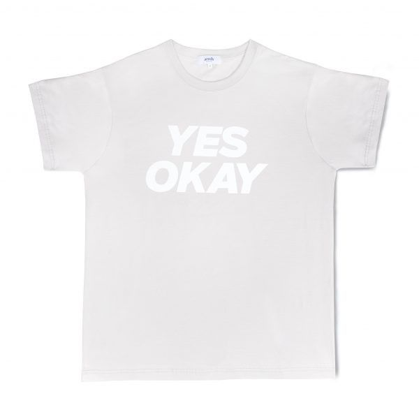 T-shirt gris yes okay oversize 0