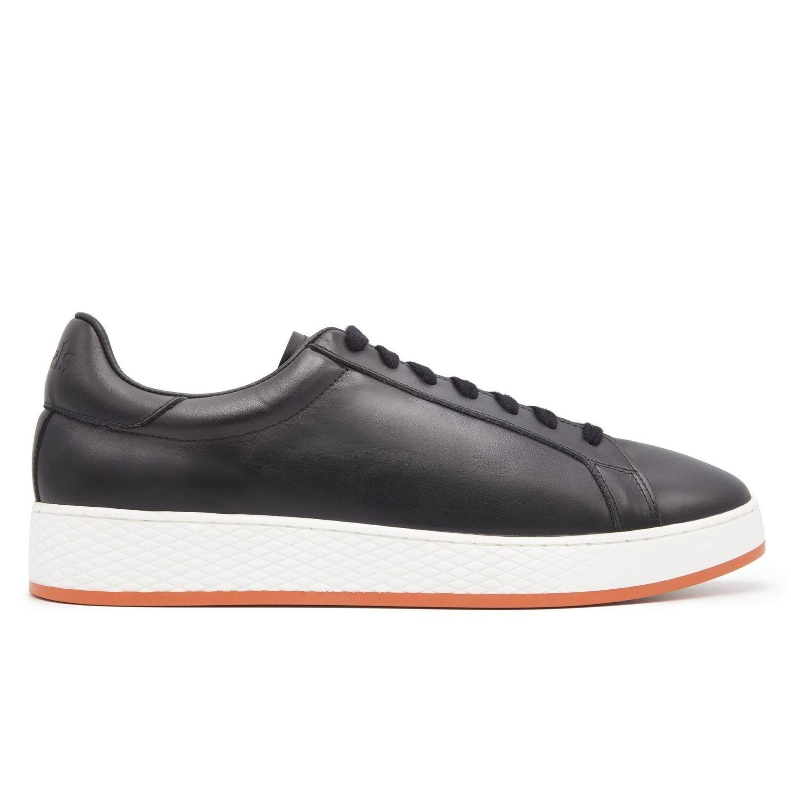 Leather Sneakers with Contrast Sole-0