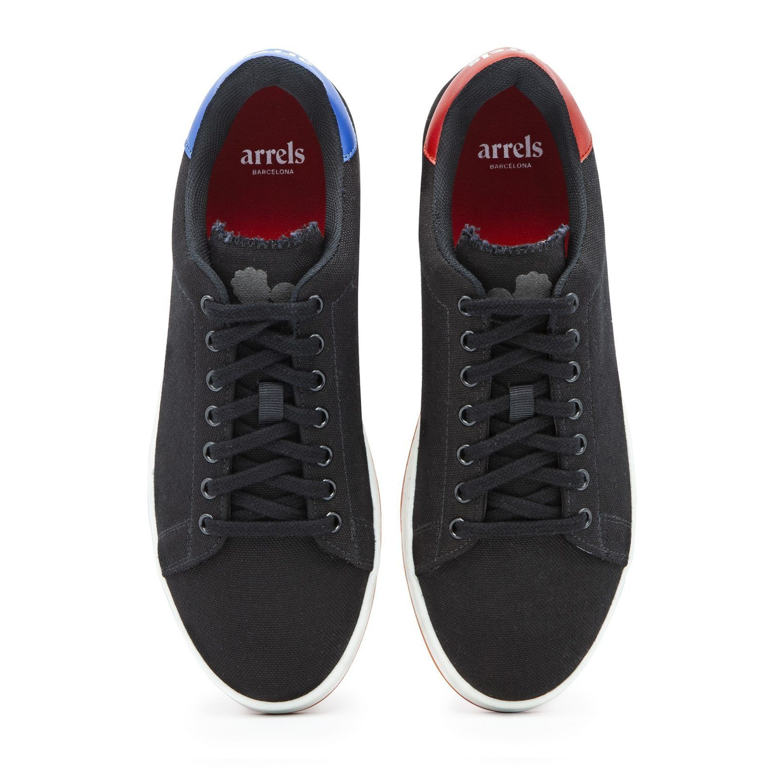 Cotton-Canvas Sneakers with Contrast Sole-623