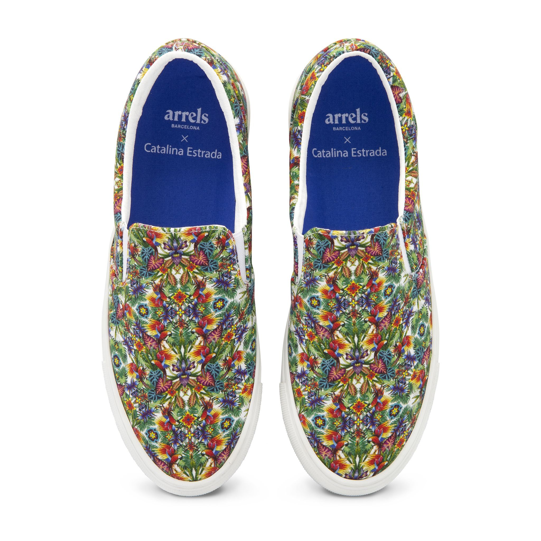Slip On White Guacamayo Fabric