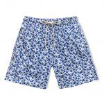 LONG SWIM SHORTS BLUE NEREIDS 20 x QUENTIN MONGE 01