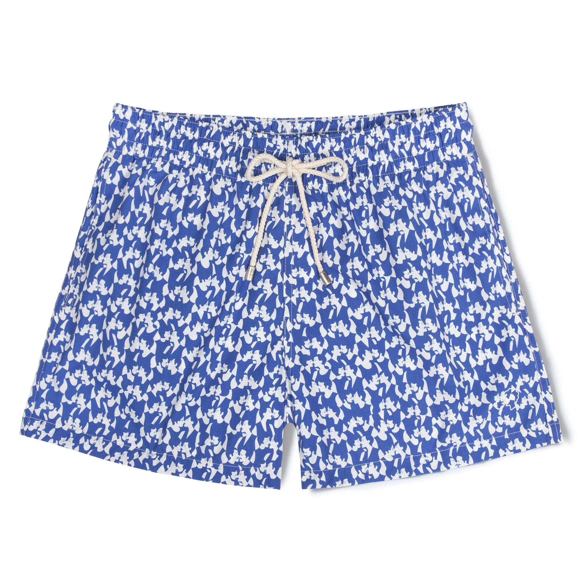 Short-Length Swim Shorts Blue Love(s)