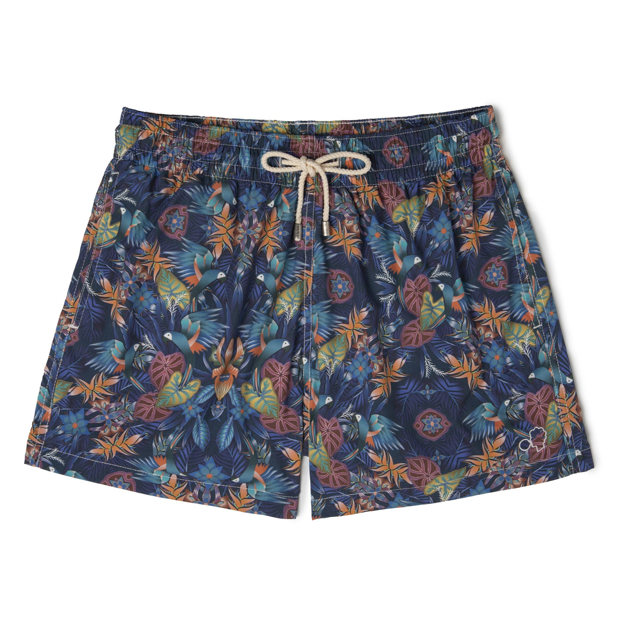 Short-Length Swim Shorts Blue Guacamayo