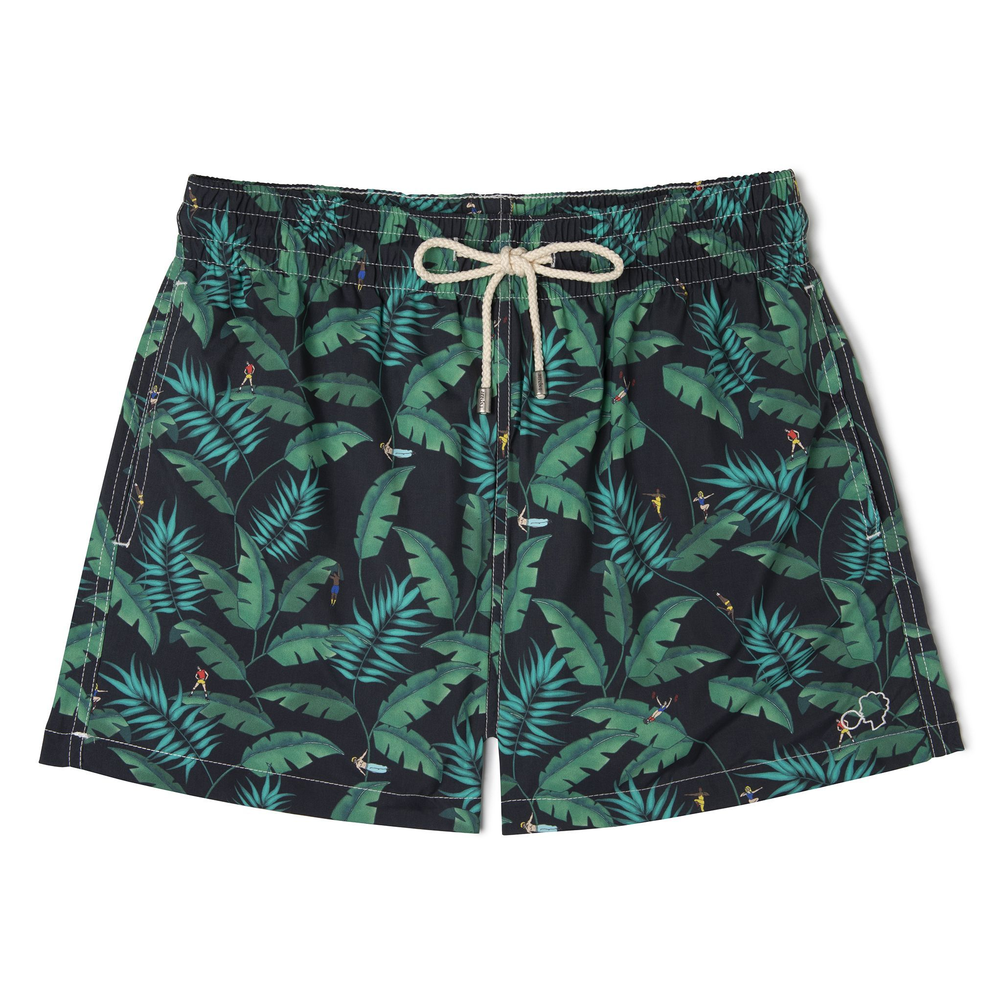 Short-Length Swim Shorts Black Gym
