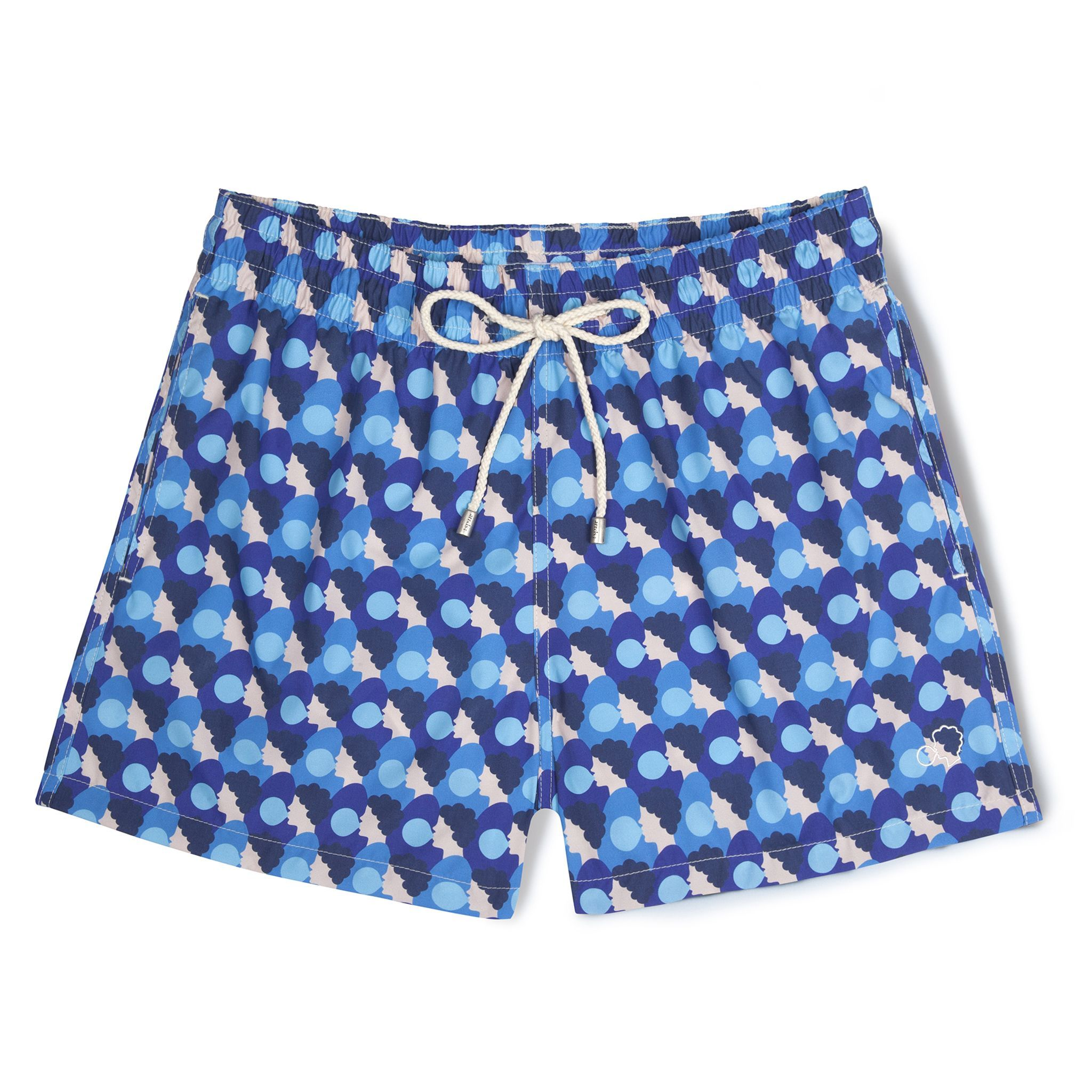 Short-Length Swim Shorts Blue Bubblegum