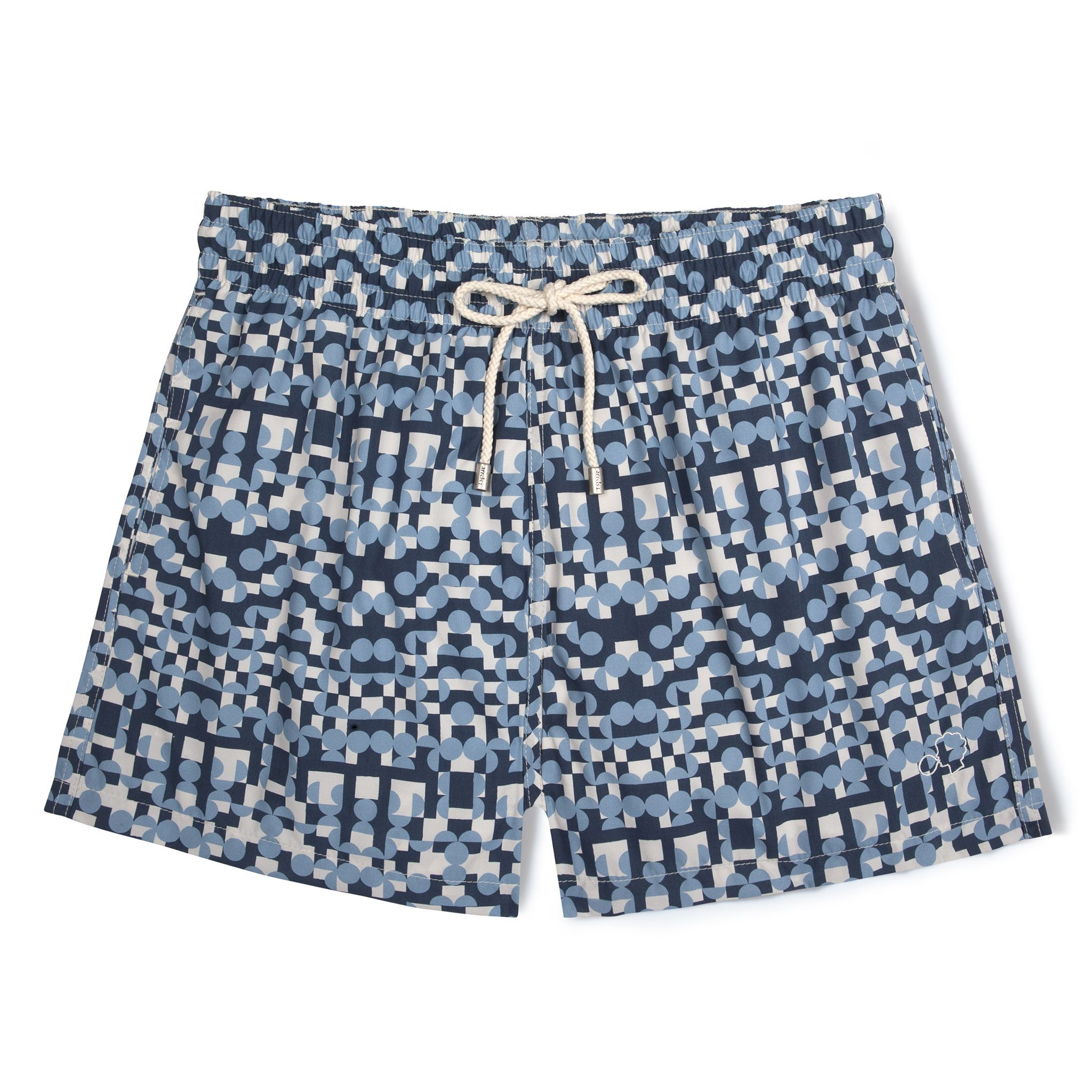 Short-Length Swim Shorts Blue Tribe 1