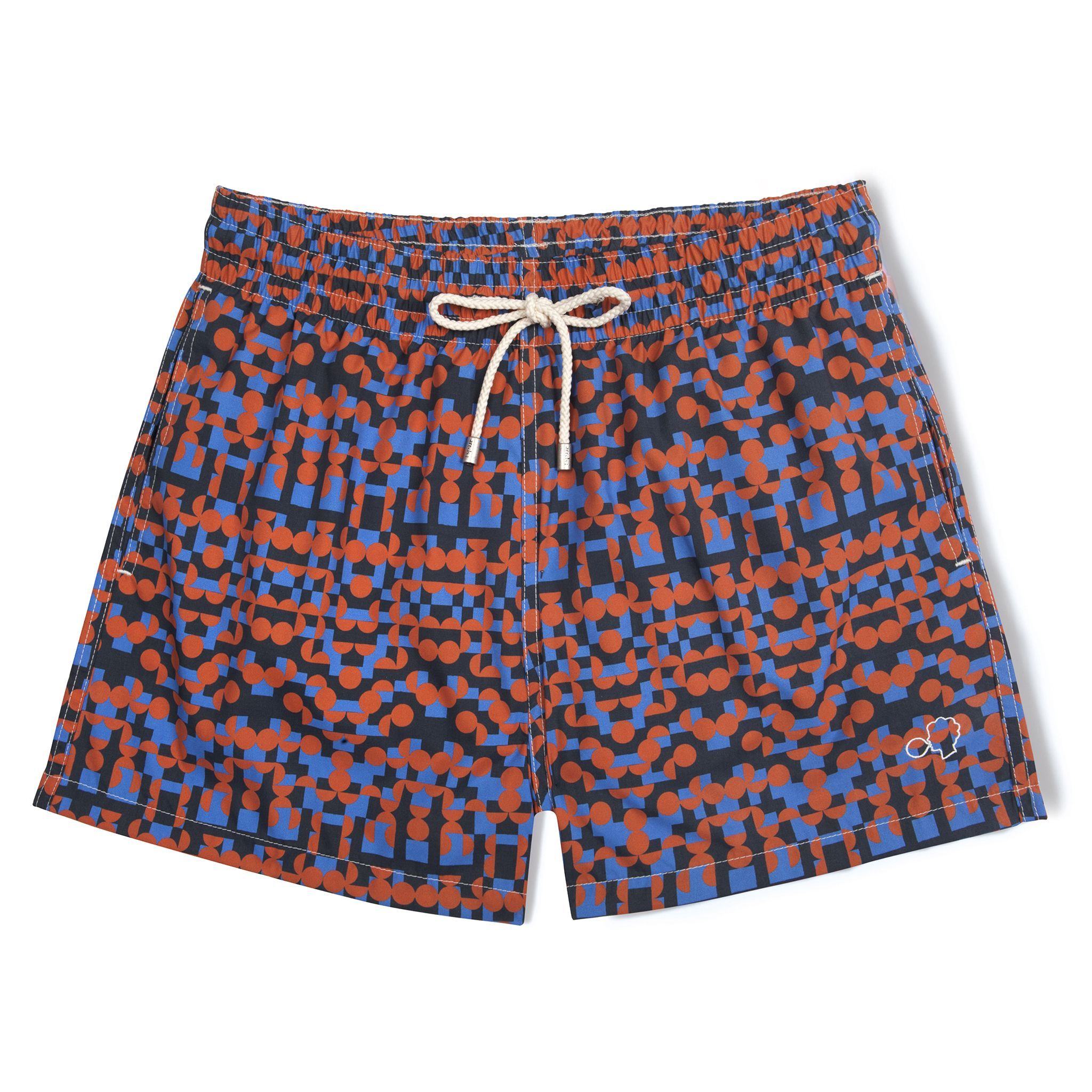 Short-Length Swim Shorts Red Tribe