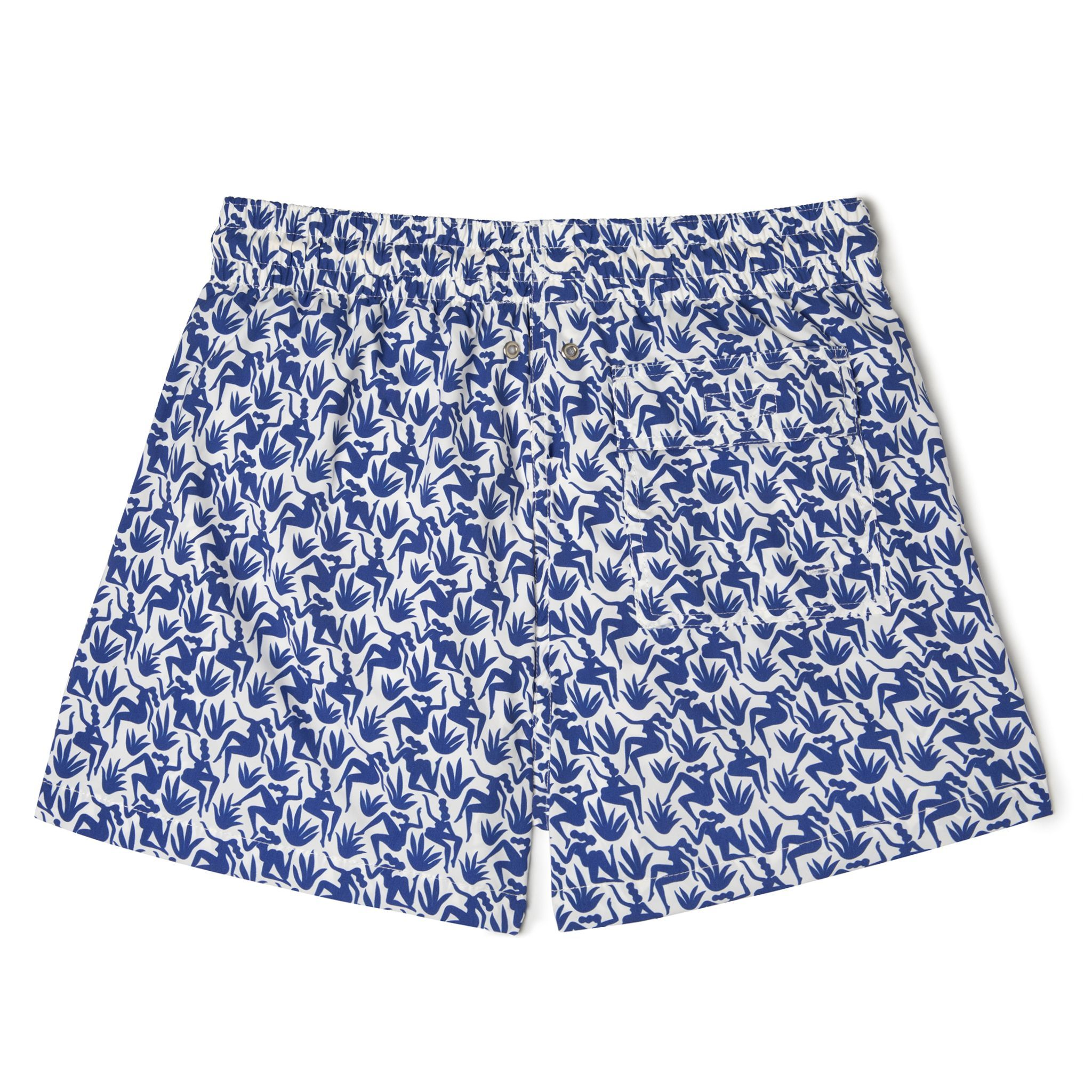 Short-Length Swim Shorts Blue Nereids