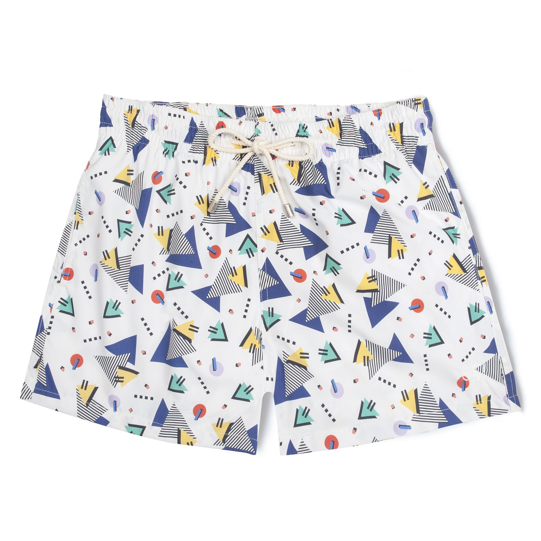 Short-Length Swim Shorts White Miami Vice