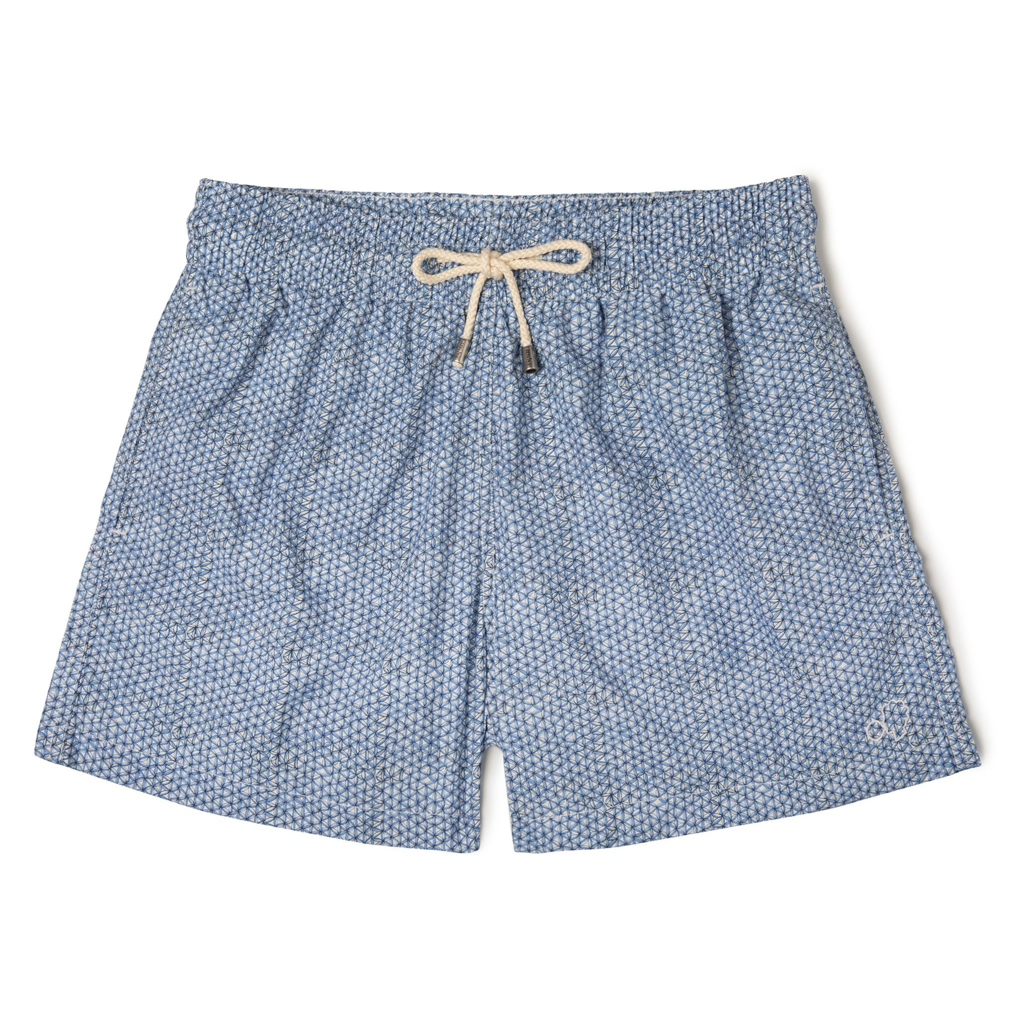 Short-Length Swim Shorts Blue Net
